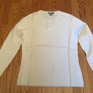 Charter Club cashmere cream sweater.  Size Medium